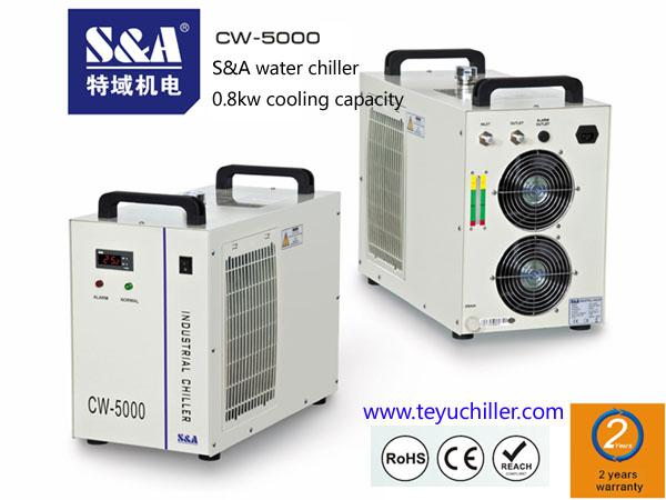 S&A compact laser chiller for visual orientation tour edge laser cutting machine